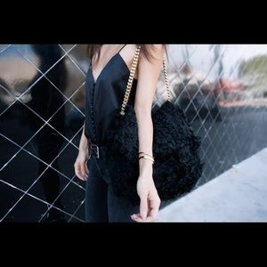 Celine Gourmette Shoulder Bag Fur